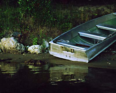 Boat on Shore; Actual size=240 pixels wide